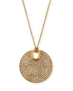 Michael Kors  - Pave City Disc Pendant Necklace