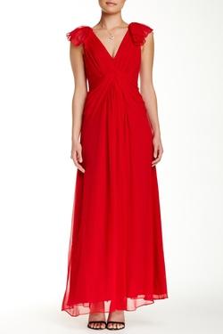 Jill Jill Stuart - Alexandria Draped Silk Chiffon Gown