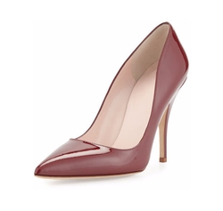 Kate Spade New York  - Licorice Patent Pointed-Toe Pumps