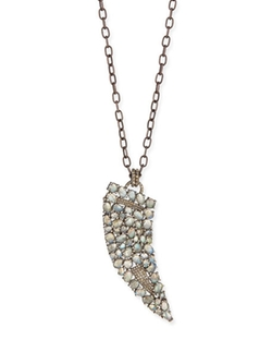 Siena Jewelry  - Labradorite Diamond Horn Necklace