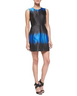 Milly  - Coco Sleeveless Ombre-Print Dress