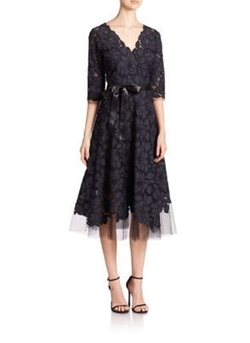 Teri Jon by Rickie Freeman - Flared Lace Dress