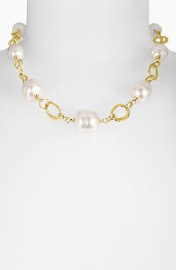 Majorica  - Baroque Pearl Collar Necklace