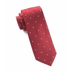 The Tie Bar - Woven Silk Dot Skinny Tie