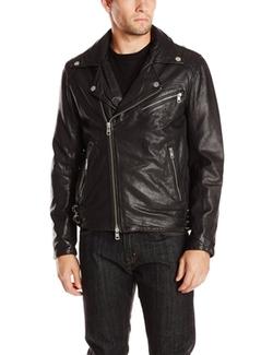 DKNY - Washed Leather Biker Jacket