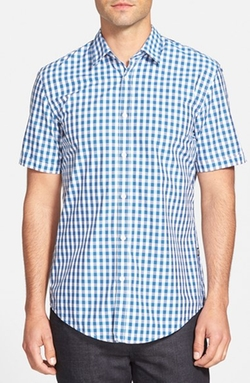 Boss - Ronn Slim Fit Short Sleeve Gingham Sport Shirt