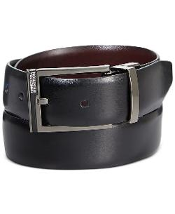 Kenneth Cole Reaction - Matte Plaque Accent Reversible Belt
