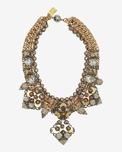 Assad Mounser - Fiona Pave Bead Chain Collar Necklace