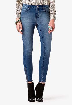 Forever 21 - Zippered Skinny Jeans