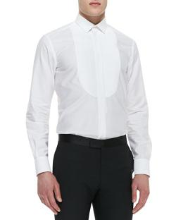 Lanvin  - Tuxedo Shirt with Pleated Bib