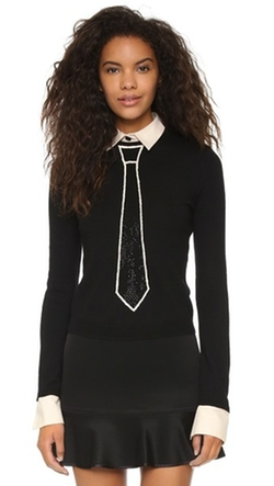 Alice + Olivia - Tie Embellished Sweater