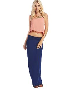 Wet Seal - Solid Maxi Skirt