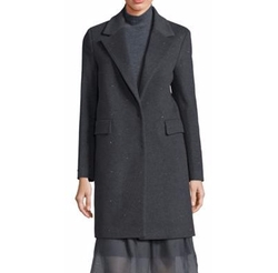 Peserico - Virgin Wool & Cashmere Blend Long Sleeve Coat