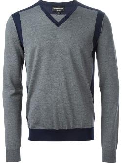 Emporio Armani - Contrast V-Neck Sweater