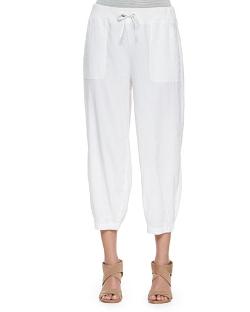 Eileen Fisher  - Drawstring-Waist Slouchy Capri Pants
