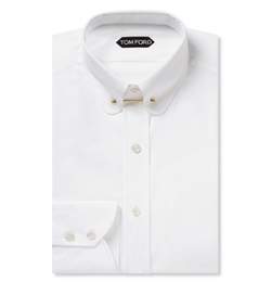 Tom Ford - Slim-Fit Collar-Bar Cotton Shirt