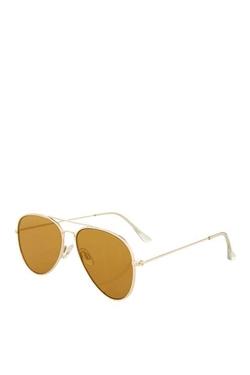 Topshop - Flat Lens Aviator Sunglasses