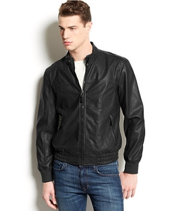 American Rag - Perforated Faux Leather Jacket