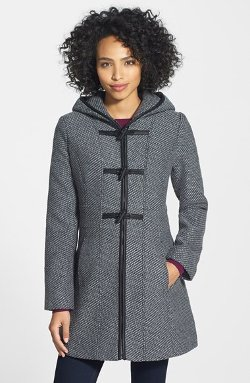 Jessica Simpson  - Hooded Toggle Coat