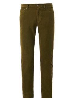 Bottega Veneta  - Slim-Leg Corduroy Trousers