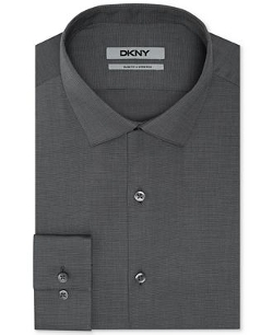 DKNY  - Slim-Fit Solid Dress Shirt