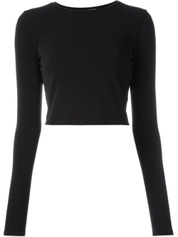 Alice+olivia - Cropped Fitted Sweater
