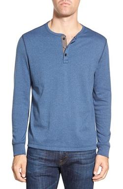 Singer + Sargent - Long Sleeve Rib Henley Shirt