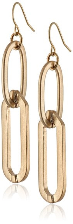 Kenneth Cole New York - Oval Link Double Drop Earrings