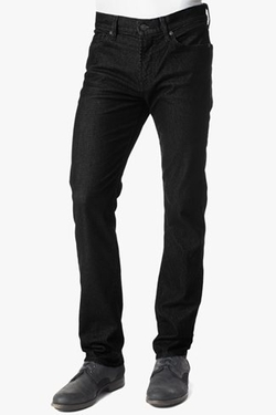 7 For All Mankind - Slimmy Slim Straight Flocked Denim Pants