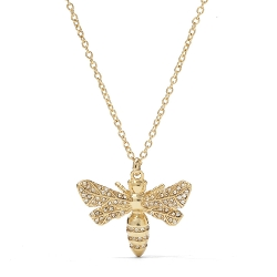 Fossil - Large Bee Pendant  Necklace