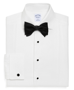 BROOKS BROTHERS - Slim Fit Bib-Front Spread Collar Tuxedo Shirt