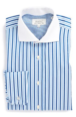 Ted Baker London - Extra Trim Fit Stripe French Cuff Dress Shirt