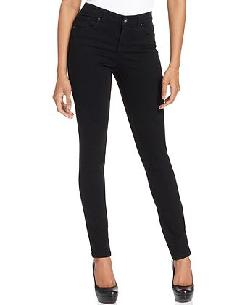 Style&co. - Petite Jeans, 5 Pocket Curvy-Fit Skinny, Black Wash