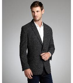 Tommy Hilfiger - Dark grey wool two-button blazer