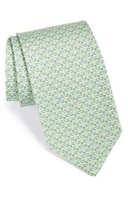 Salvatore Ferragamo - Dog Print Silk Tie