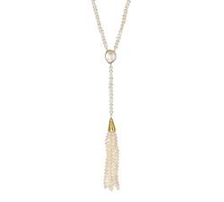Vanhi - Gold Vermeil Fresh Water Pearl Tassel Necklace