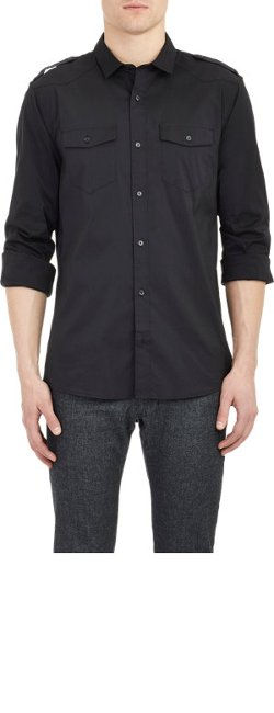 Michael Kors - Poplin Military Shirt