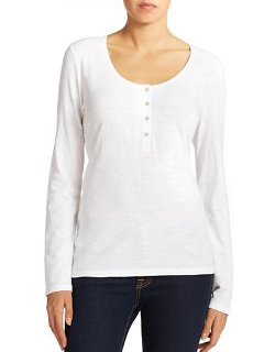 Eileen Fisher  - Cotton Henley Shirt