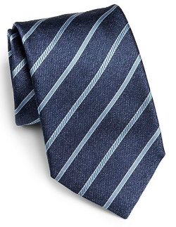 Canali - Blue Stripe Silk Tie