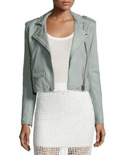 IRO - Ashville Cropped Leather Jacket