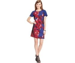 DKNYC  - Printed-Front Woven T-Shirt Dress
