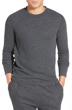 Relwen - Raw Hem Crewneck Thermal Shirt