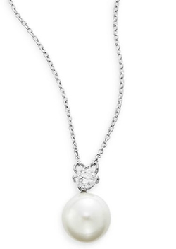Ak Anne Klein - Faux Pearl Pendant Necklace