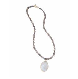Diane von Furstenberg  - Disco Agate Faceted Bead Pendant Necklace