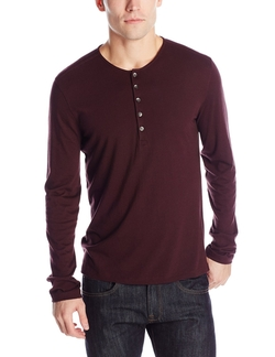 John Varvatos Star USA - Long-Sleeve Henley Shirt