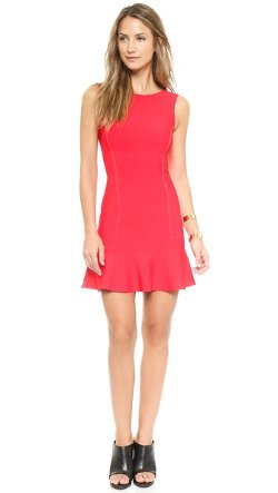 BCBGMAXAZRIA  - Padma Low Back Ruffle Dress