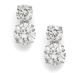 Adriana Orsini - Double Stud Drop Earrings