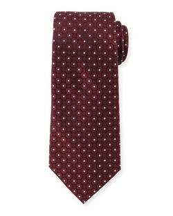 Armani Collezioni  - Small Medallion-Print Silk Tie