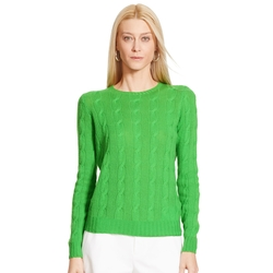 Ralph Lauren - Cabled Cashmere Crewneck Sweater