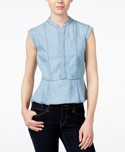 Velvet Heart - Pala Denim Peplum Top
